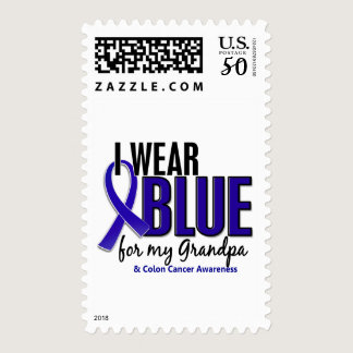Colon Cancer I Wear Blue For My Grandpa 10 Postage