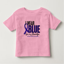 Colon Cancer I Wear Blue For My Grandpa 10 Toddler T-shirt