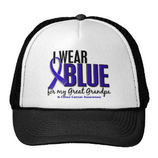 Colon Cancer I Wear Blue For My Great Grandpa 10 Hat