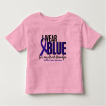 Colon Cancer I Wear Blue For My Great Grandpa 10 Toddler T-shirt