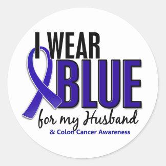 Image result for I wear blue for my husband colorectal awareness ribbon