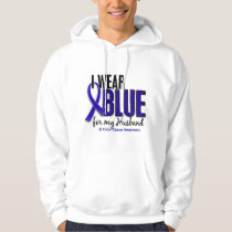 Colon Cancer I Wear Blue For My Husband 10 Hoodie