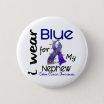 Colon Cancer I Wear Blue For My Nephew 43 Pinback Button