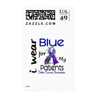 Colon Cancer I Wear Blue For My Patients 43 Postage Stamp