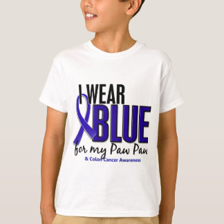 Colon Cancer I Wear Blue For My Paw Paw 10 T-Shirt