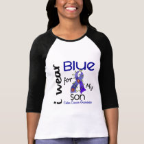 Colon Cancer I Wear Blue For My Son 43 T-Shirt