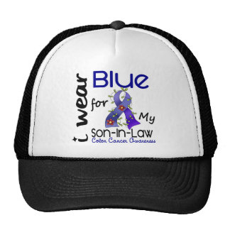 Colon Cancer I Wear Blue For My Son-In-Law 43 Mesh Hats