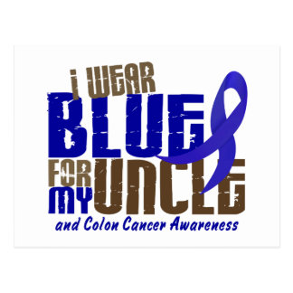 Colon Cancer I WEAR BLUE FOR MY UNCLE 6.3 Postcard