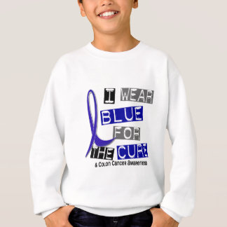 Colon Cancer I Wear Blue For The Cure 37 Sweatshirt