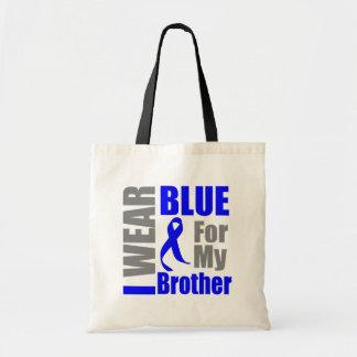 Colon Cancer I Wear Blue Ribbon Brother Canvas Bag