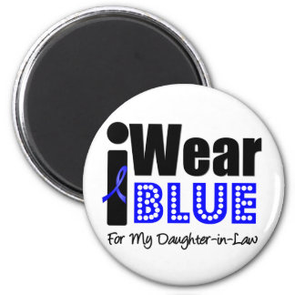 Colon Cancer I Wear Blue Ribbon Daughter-in-Law 2 Inch Round Magnet