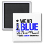Colon Cancer I Wear Blue Ribbon For My Best Friend Magnets