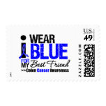 Colon Cancer I Wear Blue Ribbon For My Best Friend Postage Stamps