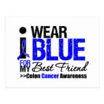 Colon Cancer I Wear Blue Ribbon For My Best Friend Postcards