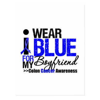 COLON CANCER I Wear Blue Ribbon For My Boyfriend Postcards