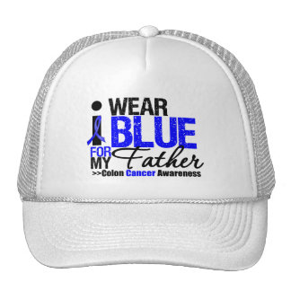 Colon Cancer I Wear Blue Ribbon For My Father Mesh Hats