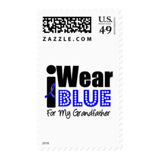 Colon Cancer I Wear Blue Ribbon For My Grandfather Postage Stamps