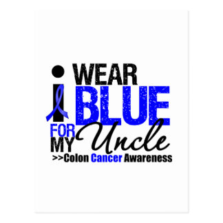 Colon Cancer I Wear Blue Ribbon For My Uncle Post Cards