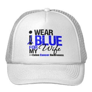 Colon Cancer I Wear Blue Ribbon For My Wife Trucker Hat