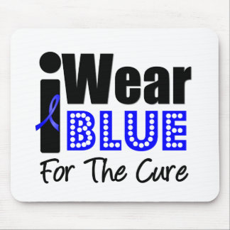 Colon Cancer I Wear Blue Ribbon For The Cure Mouse Mat