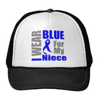 Colon Cancer I Wear Blue Ribbon Niece Trucker Hat