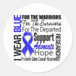 Colon Cancer I Wear Blue Ribbon TRIBUTE Sticker