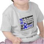 Colon Cancer I Wear Blue Ribbon TRIBUTE T-shirt