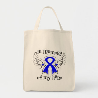 Colon Cancer In Memory of My Hero Tote Bag
