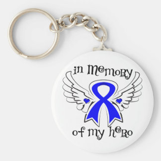 Colon Cancer In Memory of My Hero Basic Round Button Keychain