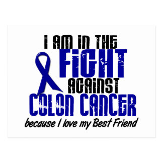 COLON CANCER In The Fight For My Best Friend 1 Postcard