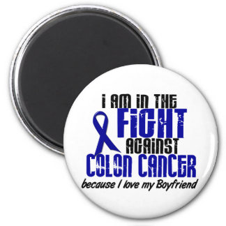 COLON CANCER In The Fight For My Boyfriend 1 2 Inch Round Magnet