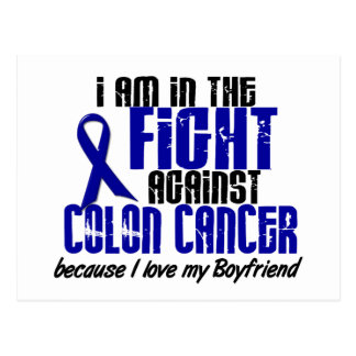 COLON CANCER In The Fight For My Boyfriend 1 Postcard
