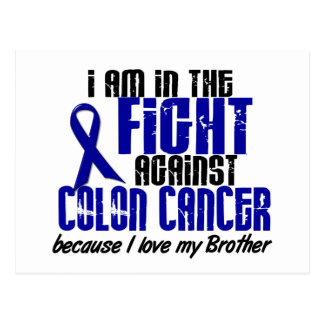 COLON CANCER In The Fight For My Brother 1 Postcard