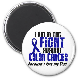 COLON CANCER In The Fight For My Dad 1 2 Inch Round Magnet