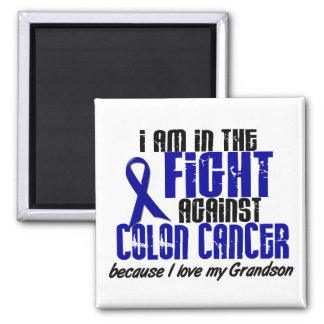 COLON CANCER In The Fight For My Grandson 1 2 Inch Square Magnet