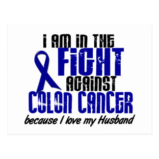 COLON CANCER In The Fight For My Husband 1 Postcard