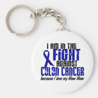 COLON CANCER In The Fight For My Maw Maw 1 Basic Round Button Keychain