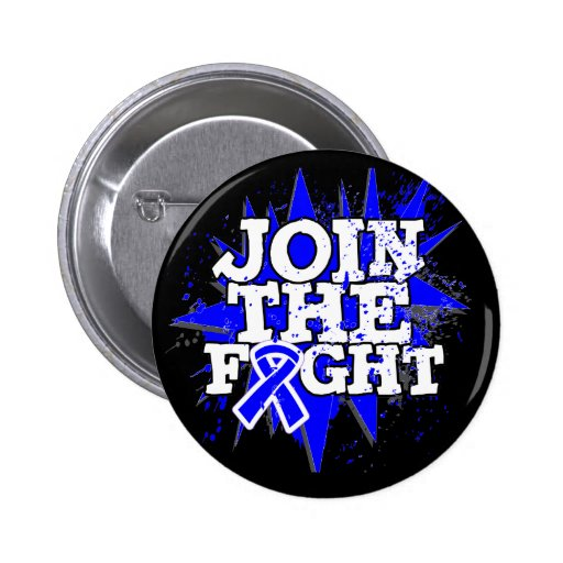 Colon Cancer Join The Fight Pinback Buttons