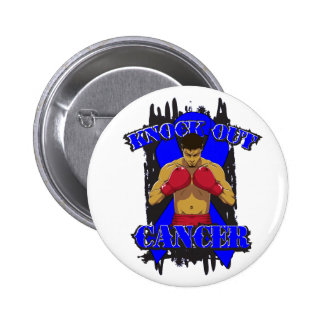 Colon Cancer Knock Out Cancer Pinback Button