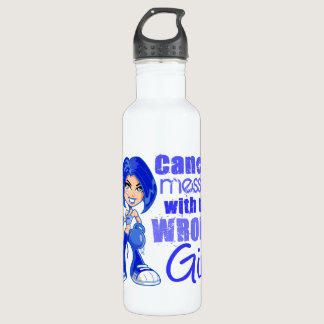 Colon Cancer Messed With Wrong Girl Stainless Steel Water Bottle