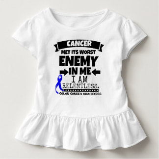 Colon Cancer Met Its Worst Enemy in Me Toddler T-shirt