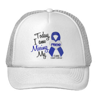 Colon Cancer MISSING MY FRIEND Mesh Hats