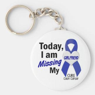 Colon Cancer MISSING MY GIRLFRIEND Basic Round Button Keychain