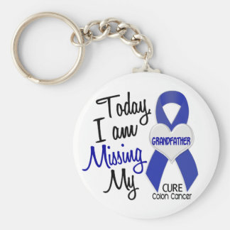Colon Cancer MISSING MY GRANDFATHER Basic Round Button Keychain