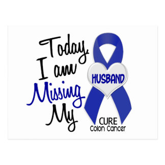 Colon Cancer MISSING MY HUSBAND Postcard