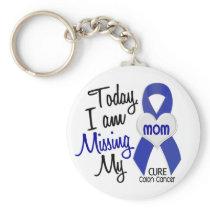 Colon Cancer MISSING MY MOM Keychain