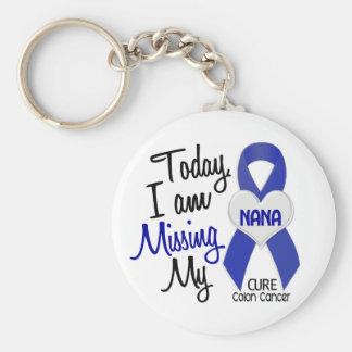 Colon Cancer MISSING MY NANA Basic Round Button Keychain