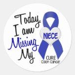 Colon Cancer MISSING MY NIECE Round Sticker