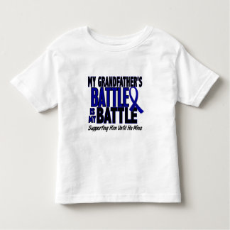 Colon Cancer MY BATTLE TOO 1 Grandfather Toddler T-shirt