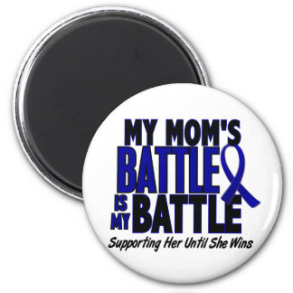 Colon Cancer MY BATTLE TOO 1 Mom 2 Inch Round Magnet